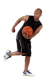 Fototapeta Young African American basketball player