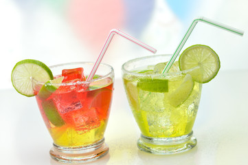 cold drinks with lime