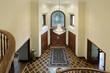 Foyer with oval glass window