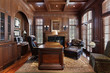 Library in luxury home - 27472694