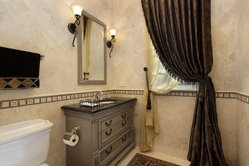 Powder room in luxury home