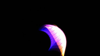 Solar energy plank in space,Marine life,color grid Light,laser
