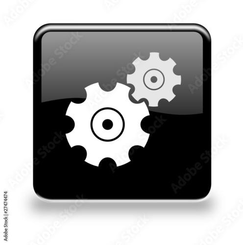 button einstellungen black von virtua73 lizenzfreier vektor 27474474 auf. Black Bedroom Furniture Sets. Home Design Ideas