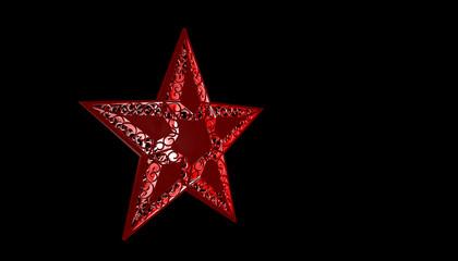 weihnachtsstern rot mit freistellpfad
