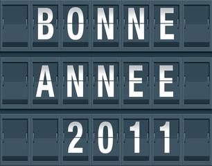 BONNE ANNEE 2011 - Affichage gare ou aéroport