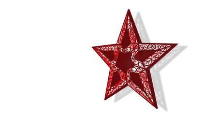 weihnachtsstern rot mit freistellpfad 2