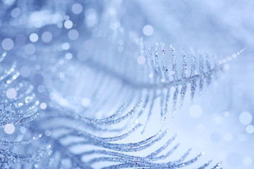 brilliant blue сhristmas background