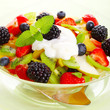 Fresh fruits salad with mint- Healthy Eating