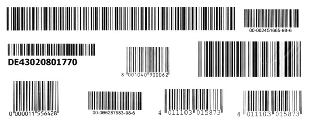 stripes of bar codes
