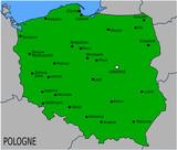 Carte des Villes Principales de Pologne