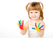 little girl and bright colors