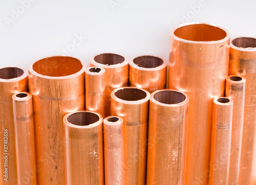 poster of Copper pipes of different diameter
