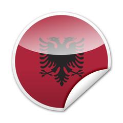 Pegatina bandera Albania con reborde