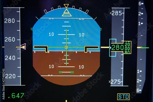 Künstlicher Horizont im Verkehrsflugzeug