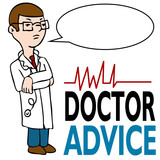 Serious Doctor Giving Advice poster