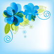 Blue floral background