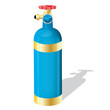 Gas cylinder on a isolated background,vector