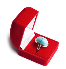 ring with turquoise in red box