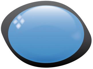 icona ovale blu