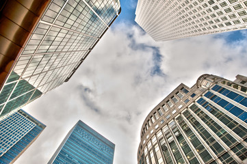 Skyscrapers at Canary Wharf