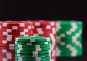 Green Gambling Chips
