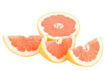 peaces of red grapefruit