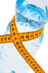 Mineralwasser. Symbol für Diät