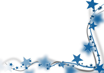Weihnachten Karte Baum Schleife Blau Gutschein