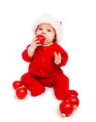 Baby Santa playing