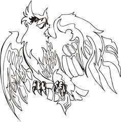 Eagle - predatory bird.