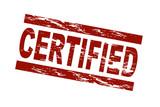 Certified / vektor poster