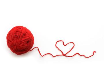 Wool yarn with heat symbol