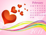 abstract february calendar poster