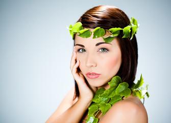 femme beauté nature