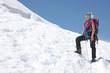 Alpiniste vers le Mont Blanc