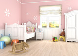pink girl´s bedroom