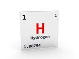 Hydrogen symbol - H poster