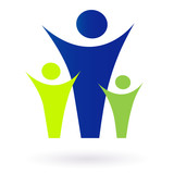 Family and community pictogram - adult and kids poster