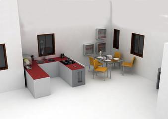 interno appartamento render 1