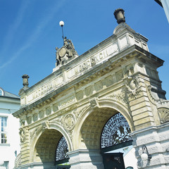 brewery gate, Plzen (Pilsen), Czech Republic