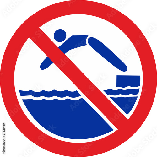 Sign - don't jump in water
