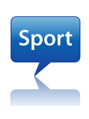 Icône Bulle SPORT (informations sports matches en direct bouton)