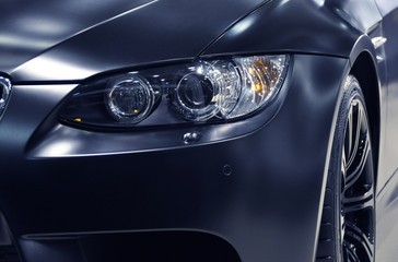 Headlight of a sports car