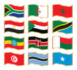 Wavy gold frame flags - Eastern Northern & Southern Africa