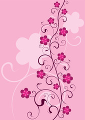 abstract floral and nature background - vector illustration