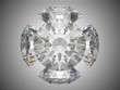 Five brilliant cut diamonds