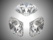 Three brilliant cut diamonds