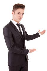 Business man making presentation