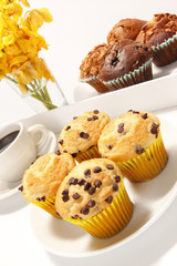 Assorted muffins and cupcakes breakfast