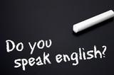 Tafel mit Do you speak english